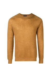 Maglione girocollo senape di Roberto Collina