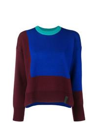 Maglione girocollo stampato blu di Kenzo