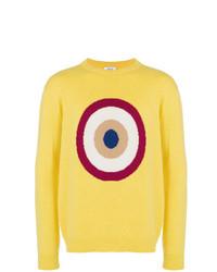 Maglione girocollo stampato giallo di Circled Be Different