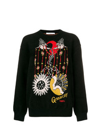 Maglione girocollo stampato nero di Givenchy