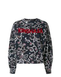 Maglione girocollo stampato nero di Isabel Marant Etoile