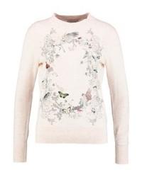 Maglione girocollo stampato rosa di Ted Baker