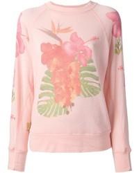 Maglione girocollo stampato rosa di Wildfox Couture