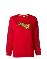 Maglione girocollo stampato rosso di Kenzo