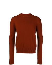 Maglione girocollo terracotta di Calvin Klein 205W39nyc