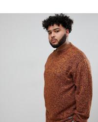 Maglione girocollo terracotta di replika