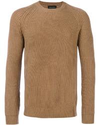 Maglione girocollo terracotta di Roberto Collina