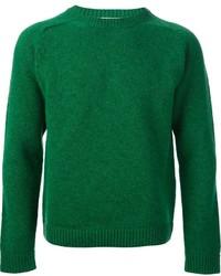 Maglione girocollo verde