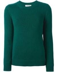 Maglione girocollo verde scuro
