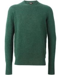 Maglione girocollo verde di Drumohr