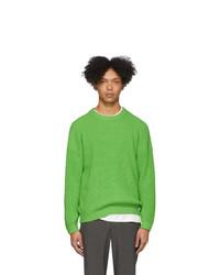 Maglione girocollo verde di Issey Miyake Men