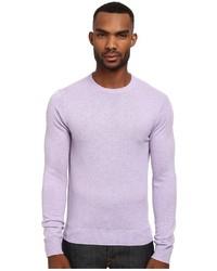 Maglione girocollo viola chiaro