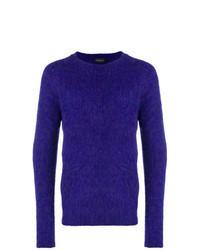 Maglione girocollo viola