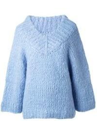 Maglione oversize azzurro di Michael Kors
