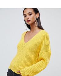 Maglione oversize giallo di Asos Tall