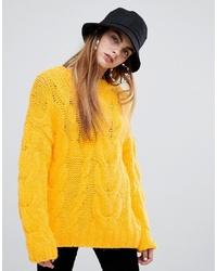 Maglione oversize giallo di Bershka