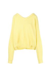 Maglione oversize giallo di Erika Cavallini