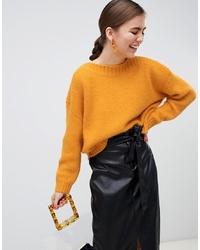 Maglione oversize giallo di Monki