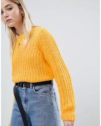 Maglione oversize giallo di Noisy May