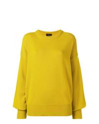 Maglione oversize giallo di Roberto Collina