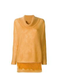 Maglione oversize giallo di Twin-Set