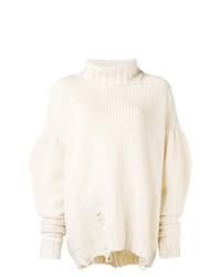 baaf3622d81e Look alla moda per donna  Maglione oversize lavorato a maglia beige ...