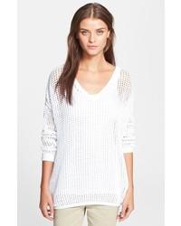 Maglione oversize lavorato a maglia bianco