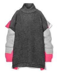 Maglione oversize lavorato a maglia grigio scuro di Balenciaga