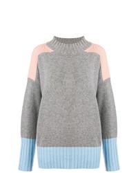 Maglione oversize lavorato a maglia grigio di Chinti & Parker