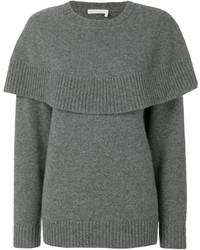 Maglione oversize lavorato a maglia grigio di Chloé