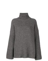 Maglione oversize lavorato a maglia grigio di Incentive! Cashmere