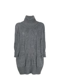 Maglione oversize lavorato a maglia grigio di Lorena Antoniazzi