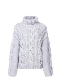 Maglione oversize lavorato a maglia grigio di Marina Moscone