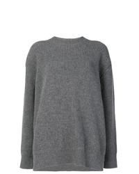 Maglione oversize lavorato a maglia grigio di N°21