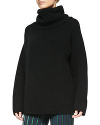 Maglione oversize lavorato a maglia nero