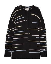 Maglione oversize lavorato a maglia nero di Victor Glemaud