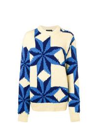 Maglione oversize stampato beige di Calvin Klein 205W39nyc