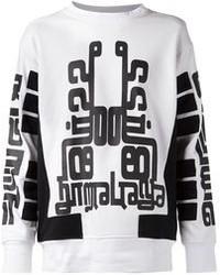 Maglione oversize stampato bianco e nero