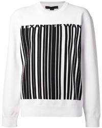 Maglione oversize stampato bianco e nero di Alexander Wang