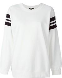 Maglione oversize stampato bianco e nero di DKNY