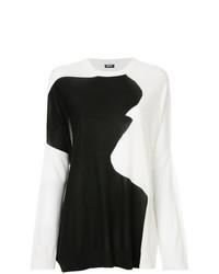 Maglione oversize stampato bianco e nero di Jil Sander Navy