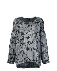 Maglione oversize stampato grigio di Avant Toi