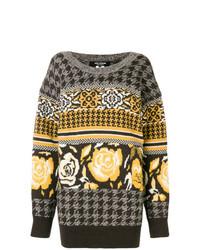 Maglione oversize stampato grigio di Junya Watanabe
