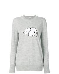Maglione oversize stampato grigio di Loewe