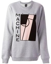 Maglione oversize stampato grigio di McQ by Alexander McQueen