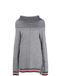 Maglione oversize stampato grigio di Stella McCartney