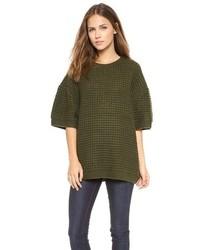 Maglione oversize verde scuro