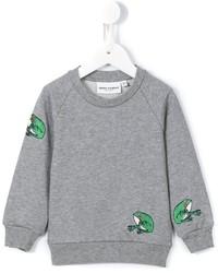 Maglione ricamato grigio di Mini Rodini