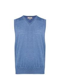 Maglione senza maniche azzurro