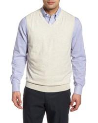 Maglione senza maniche beige